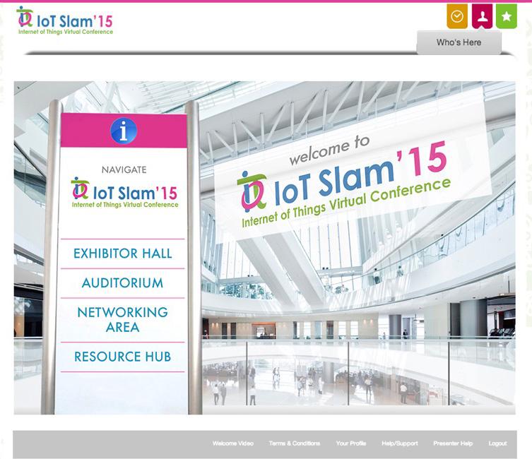 IoT Slam Virtual Internet of Things Conference Lobby