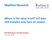 IOT DATA AND ANALYTICS – WHERE THE VALUE IS IN IOT