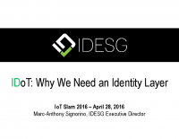 Maintaining Personal Privacy, Identity and Security in the IoT era