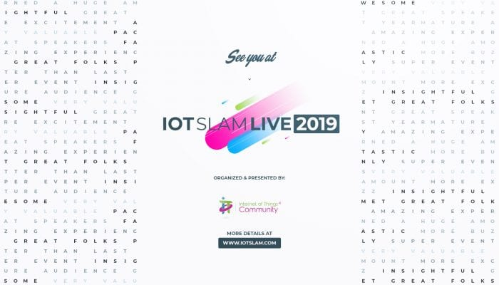 See you at IoT Slam Live 2019