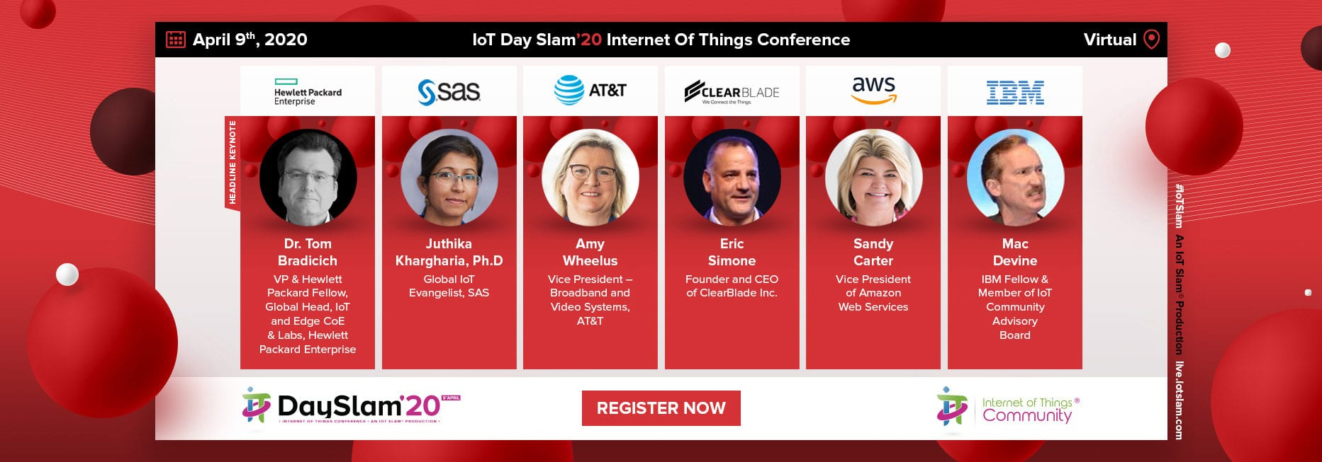 IoT Day Slam 2020 Conference Speakers
