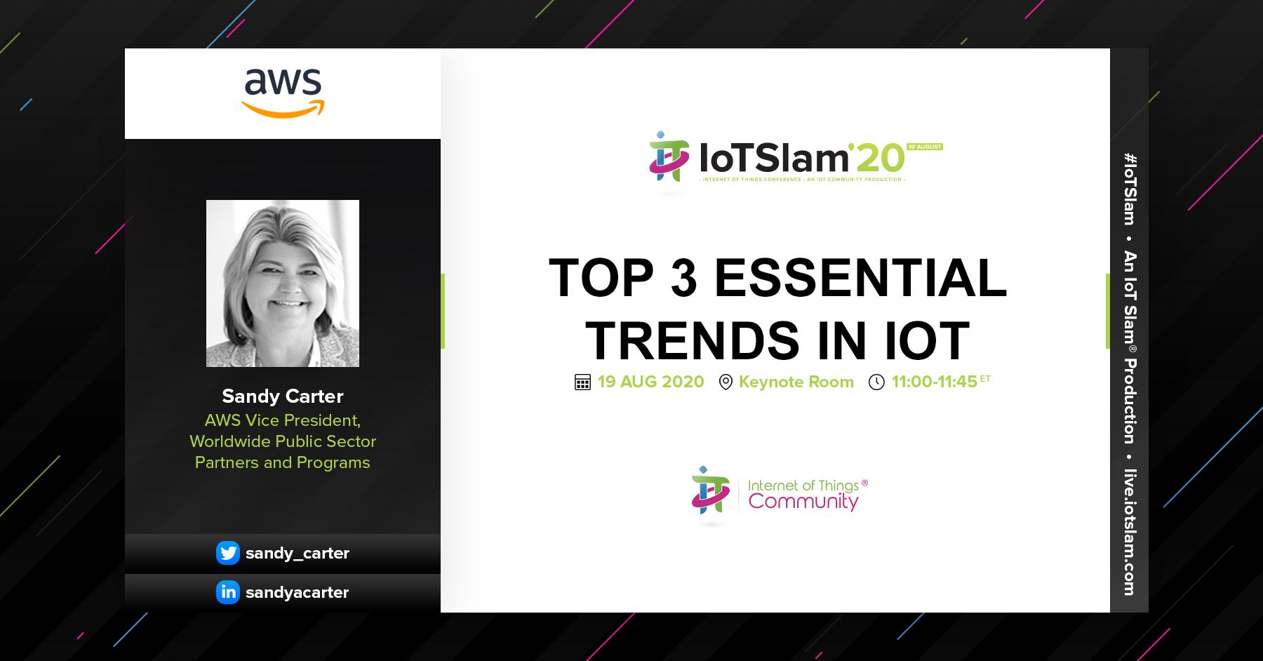 Keynote – Top 3 Essential Trends in IoT